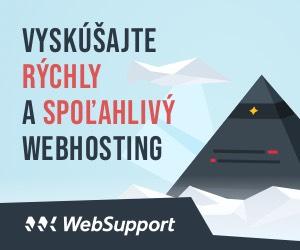 Vyskúšajte rýchly a spoľahlivý hosting od Websupport.sk